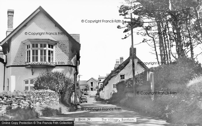 Photo of Bantham, The Village c.1955