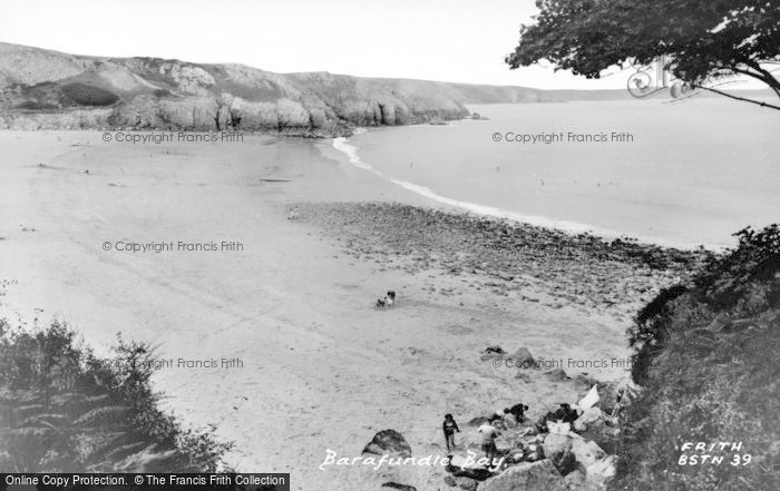 Photo of Barafundle Bay, Beach c.1955