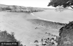 Barafundle Bay, Beach c.1955