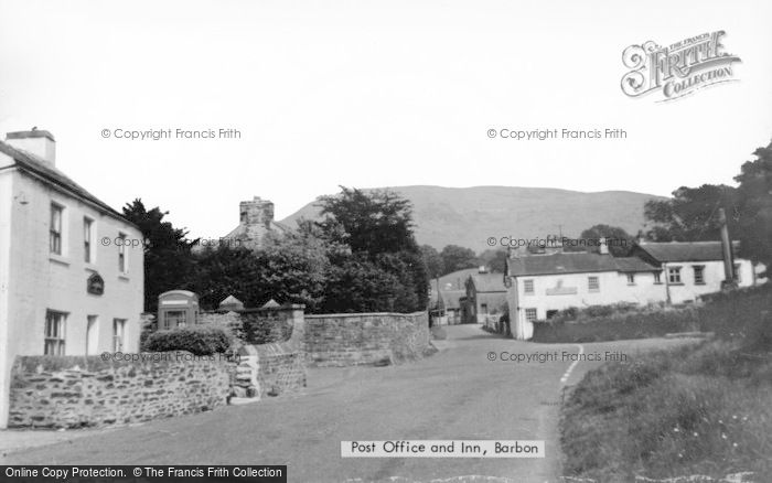 Photo of Barbon, Post Office And Inn c.1955