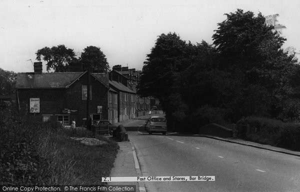 Photo of Barbridge, Post Office and Stores c1955