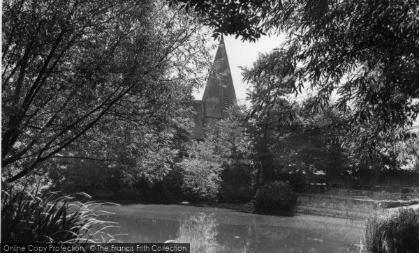 Photo of Barcombe, St Mary's Church And Pond c.1955