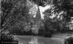 Barcombe, St Mary's Church And Pond c.1955