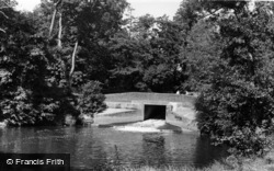 Barcombe, The Mill Pool c.1955