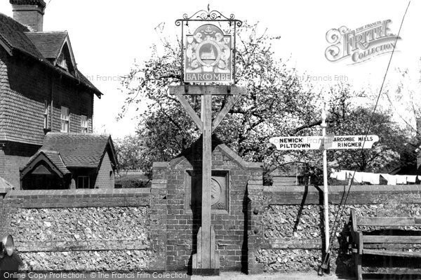 Photo of Barcombe, The Village Sign c.1955