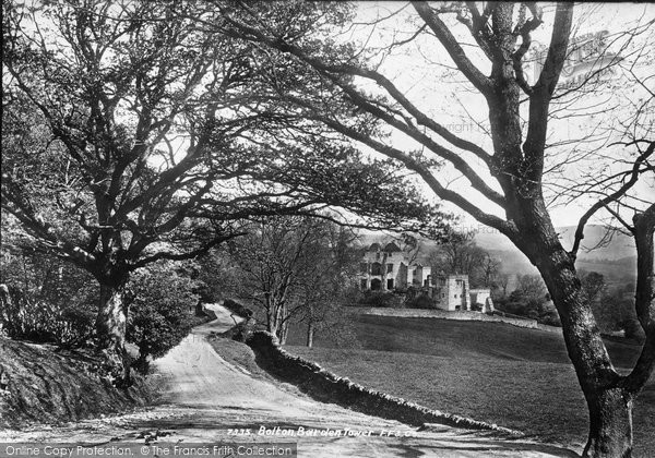 Barden, Barden Tower From Skipton Road c.1874