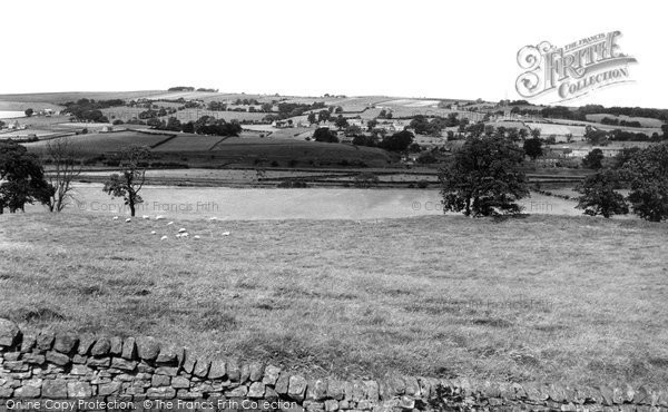 Photo of Bardon Mill, from Willimotes Castle c1955, ref. B548033