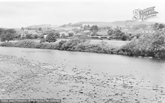 Photo of Bardon Mill, The Village From The River c.1955