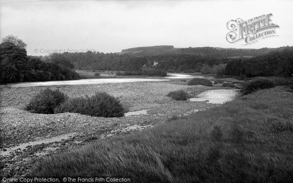 Photo of Bardon Mill, view down the River c1950, ref. B548014