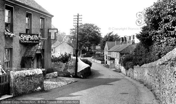 Photo of Bardsea, Village And The Ship Inn 1953