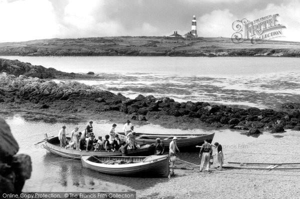 Photo of Bardsey Island, Boat Arriving c.1955