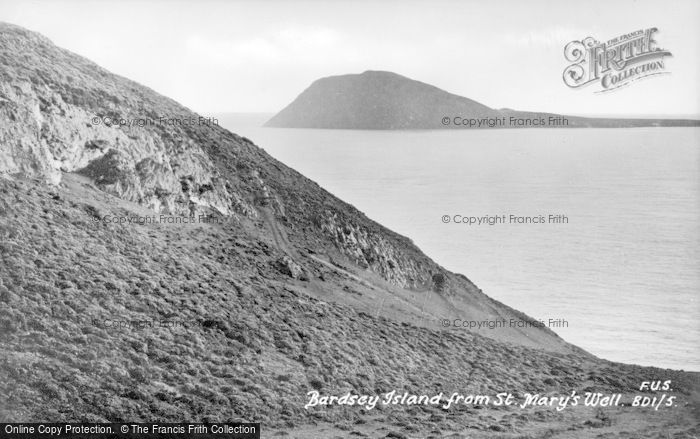 Photo of Bardsey Island, From St Mary's Well c.1930