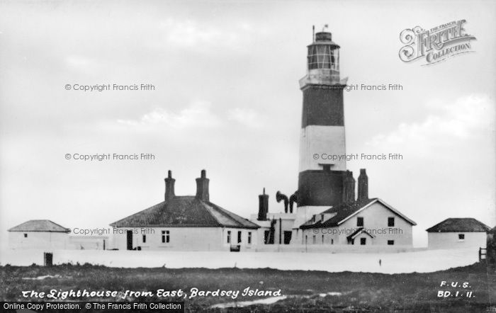 Photo of Bardsey Island, Lighthouse From East c.1930