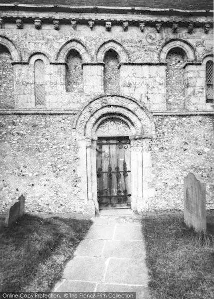 Photo of Barfrestone, Church Of St Nicholas c.1955