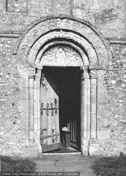 Photo of Barfrestone, Church, The Norman Door c.1955