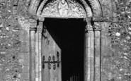 Barfrestone, Church, The Norman Door c.1955