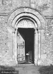 Barfrestone, Church, The Norman Door c.1955