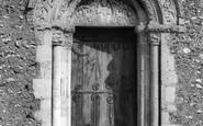 Barfrestone, Church, The Norman Door c.1960