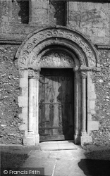 Barfrestone, Church, The Norman Door c.1960