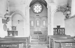 Barfrestone, St Nicholas' Church Interior c.1955
