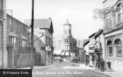 Bargoed, High Street And Pier Head c.1955