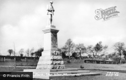 Bargoed, Park, War Memorial c.1955