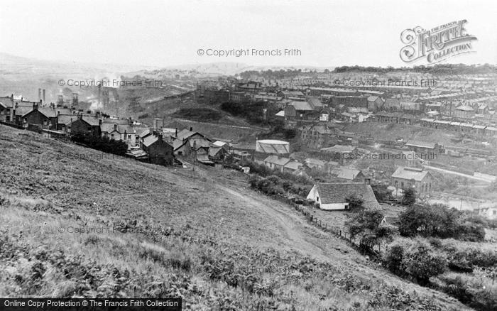 Photo of Bargoed, The Town c.1950