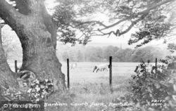 Barham, Barham Court Park c.1955