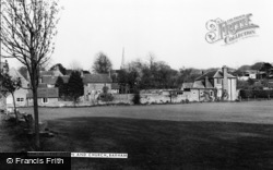 Barham, The Green And Church c.1965