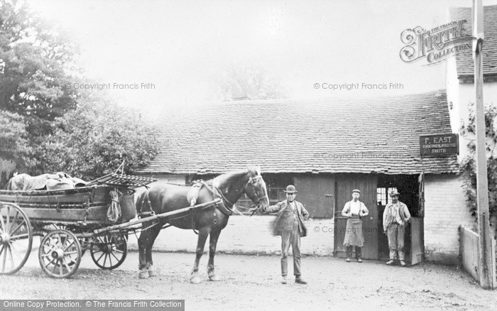 Photo of Barkham, The Smithy c.1880