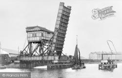 Barking, Bascule Bridge c.1920