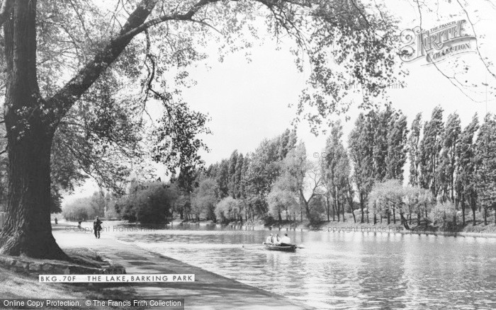 Photo of Barking, Park, The Lake c.1965