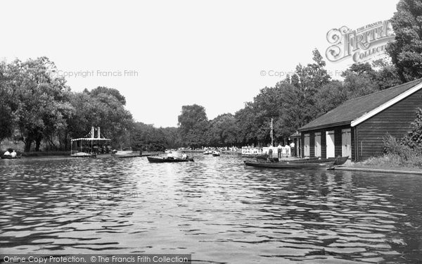 Photo of Barking, The Lake c.1955