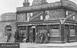 Barkingside, Men Outside The New Fairlop Oak 1906