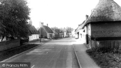 Barkway, Thatched Cottages c.1965