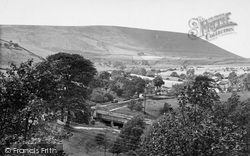 Barley, Pendle Hill From The Village c.1960