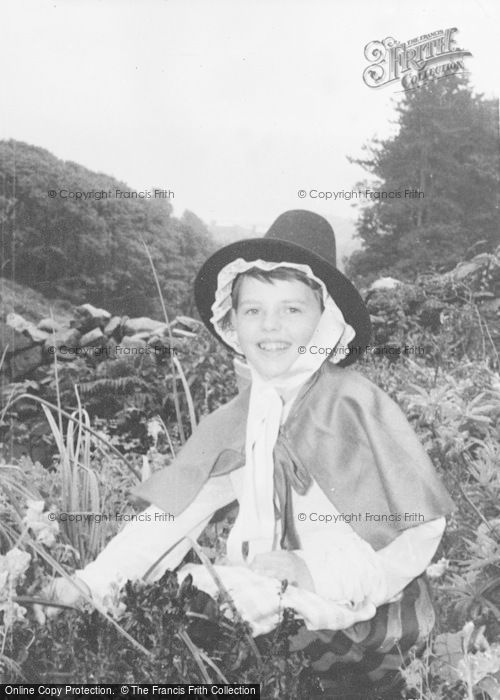 Barmouth, A Girl In Welsh Costume c.1960