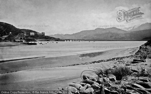 Barmouth, Bridge From Island 1889