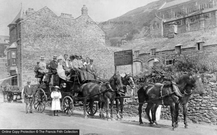 Photo of Barmouth, Coach And Horses At Northfield Hall, High Street c.1900