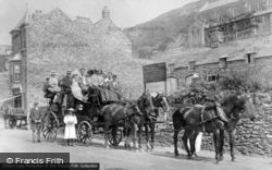 Coach And Horses At Northfield Hall, High Street c.1900, Barmouth