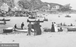 Barmouth, Crowds On Regatta Day c.1900