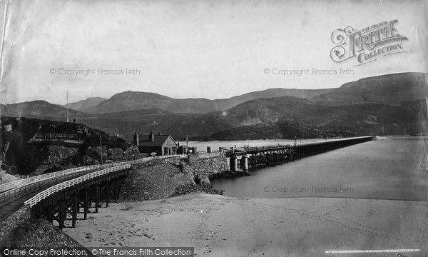 Photo of Barmouth, Railway Bridge c1876