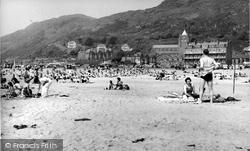 Barmouth, The Beach c.1960