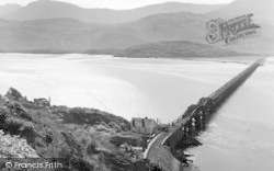 Barmouth, The Bridge And Cader Idris c.1960