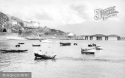 Barmouth, The Harbour c.1960