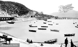 Barmouth, The Quay And Harbour 1889