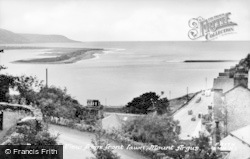 Barmouth, View From Mount Argus Front Lawn c.1955