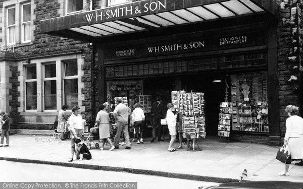 Photo of Barmouth, WH Smith & Son, High Street c1965
