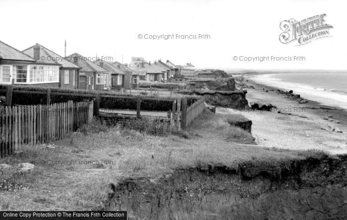 Barmston, South Cliff Bungalows c.1955