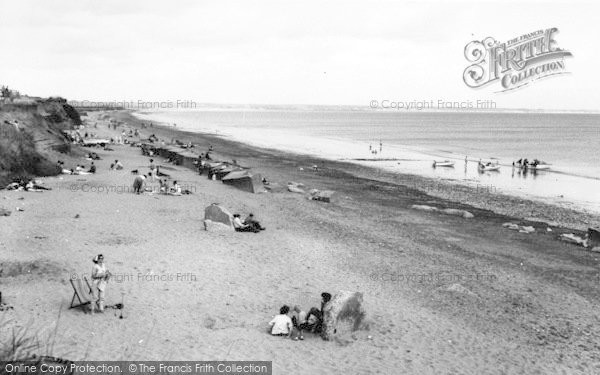 Photo of Barmston, The Beach c.1960